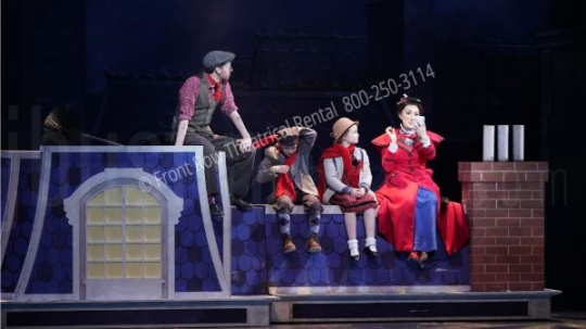 The Rooftop - Mary Poppins set rental - Front Row Theatrical - 800-250-3114