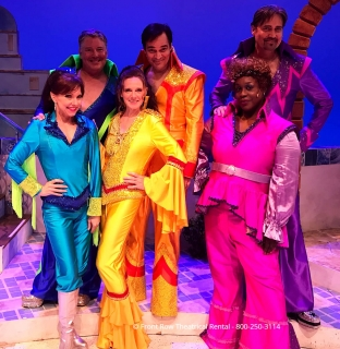 Tour Mamma Mia costume rental package - super trooper  finale jumpsuit costumes - Front Row Theatrical Rental - 800-250-3114Tour Mamma Mia costume rental package - super trooper  finale jumpsuit costumes - Front Row Theatrical Rental - 800-250-3114