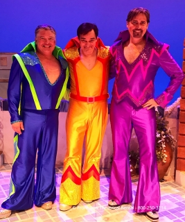 Tour Mamma Mia costume rental package - super trooper - finale costumes - Front Row Theatrical Rental - 800-250-3114