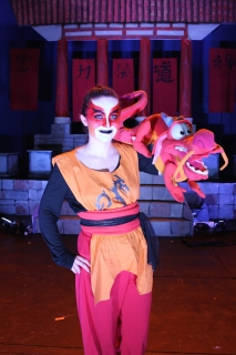 Mushu Puppet with actor