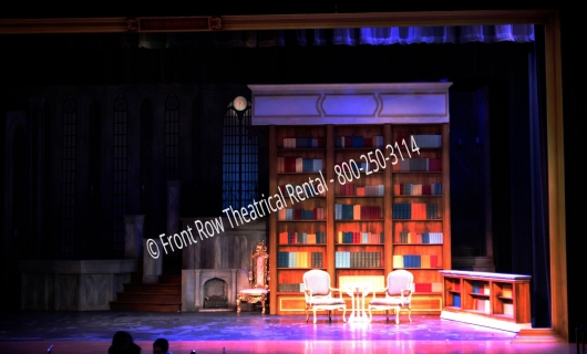 the library set picture - Beauty and the Beast - Front Row Theatrical Rental - 800-250-3114
