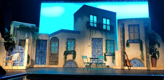 Mamma Mia greek island - set rental - Stagecraft Theatrical - 800-499-1504