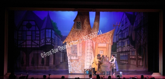 Belles House set picture - Beauty and the Beast - Front Row Theatrical Rental - 800-250-3114