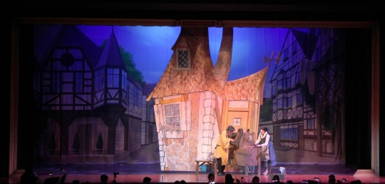 Beauty and the Beast Belle's House  - set rental - Front Row Theatrical - 800-250-3114