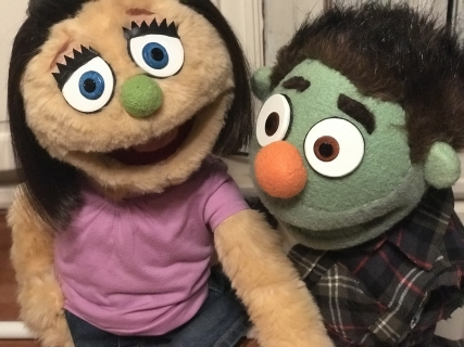 Kate Monster Puppet Ricky Puppet Avenue Q