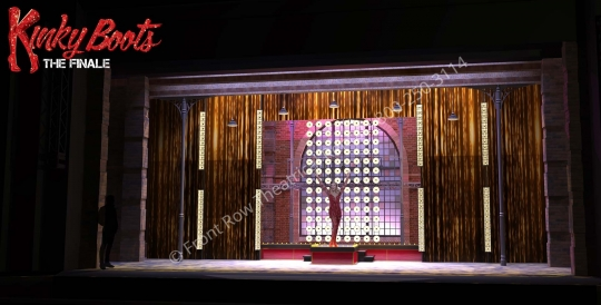 the finale fashion show - Kinky Boots broadway musical set rental - Front Row Theatrical - 800-250-3114