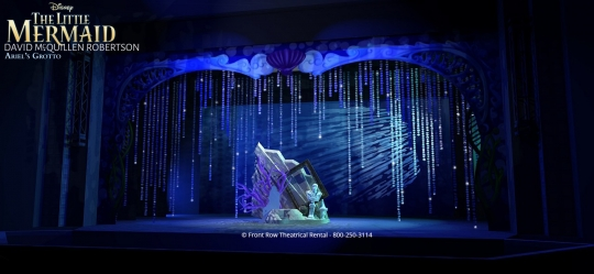 The Little Mermaid premium rental set - The Grotto - Front Row Theatrical Rental - 800-250-3114