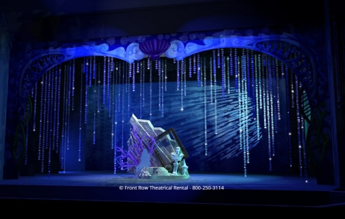 Little Mermaid premium set rental - The Grotto - Front Row Theatrical Rental - 800-250-3114