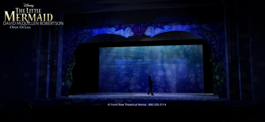 The Little Mermaid premium rental set - The opened ocean - Front Row Theatrical Rental - 800-250-3114