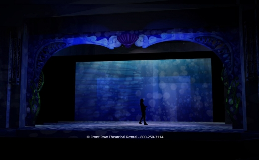 Little Mermaid premium set rental - The Opened Ocean - Front Row Theatrical Rental - 800-250-3114