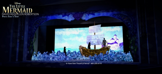 The Little Mermaid premium rental set - Prince Erics Ship - Front Row Theatrical Rental - 800-250-3114