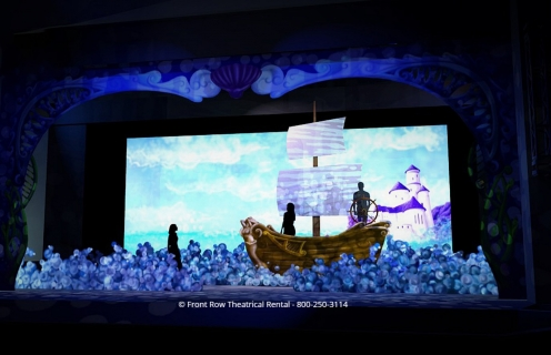 Little Mermaid premium set rental - Prince Eric's Ship - Front Row Theatrical Rental - 800-250-3114