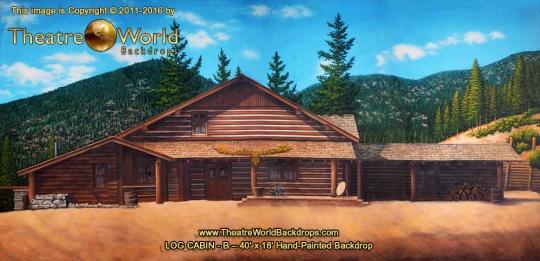 Log Cabin B Scenic Backdrop