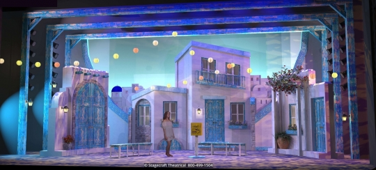 Mamma Mia Set Rental - Supertrooper - Stagecraft Theatrical - 800-499-1504