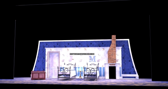 Mary Poppins scenery rental nursery- Stagecraft Theatrical - 800-499-1504