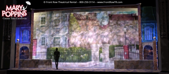 Mary Poppins Preshow- Front Row Theatrical Rental - Mary Poppins premium set rental