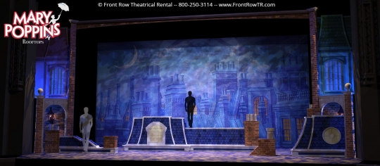 Mary Poppins Rooftops- Front Row Theatrical Rental - Mary Poppins premium set rental