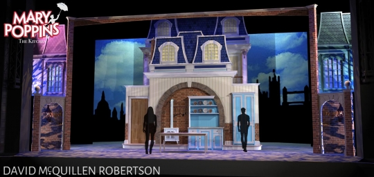 Mary Poppins Kitchen- Front Row Theatrical Rental - Mary Poppins premium set rental
