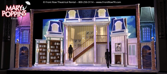 Mary Poppins Parlor - Front Row Theatrical Rental - Mary Poppins premium set rental