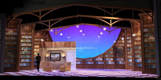 Matilda Set Rental - Living Room picture - Front Row Theatrical Rental - 800-250-3114
