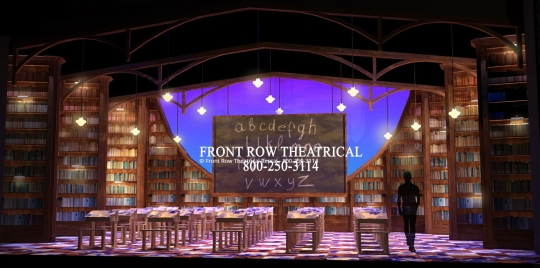 Matilda Set Rental - Classroom Picture - Front Row Theatrical Rental - 800-250-3114