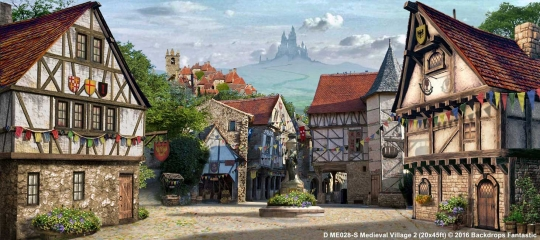 Medieval Village 2 ME028-S 20x45 Beauty and the Beast Backdrop Rental