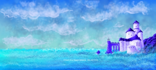 The Little Mermaid premium rental set - Castle Drop - Front Row Theatrical Rental - 800-250-3114