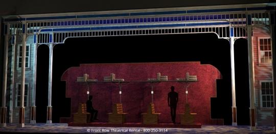 Music Man Premium Set Rental - Train- Front Row Theatrical Rental  - 800-250-3114
