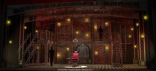 Sweeney Todd Premium Rental Scenery - The Pie Shop - Front Row Theatrical Rental - 800-250-3114