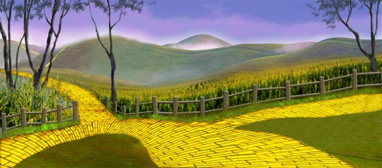 Follow follow follow the Yellow Brick Road backdrop to the performance of The Wizard of Oz