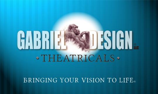 Gabriel Design Theatricals logo banner