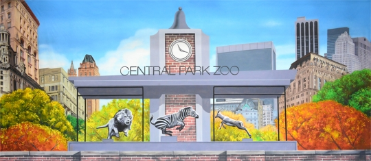 Central Park Zoo backdrop used in the production of Madagascar