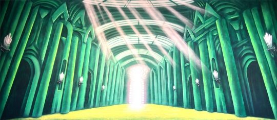 Grosh Emerald City Interior backdrop used in productions of The Wizard of Oz
