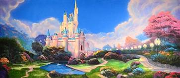 Grosh Backdrops Fairytale Castle  backdrop used in productions of Cinderella and Sleeping Beauty