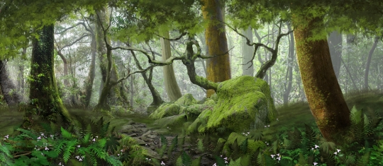 Forest Panel 4 backdrop used in productions of Shrek, Wizard of Oz and Sleeping Beauty