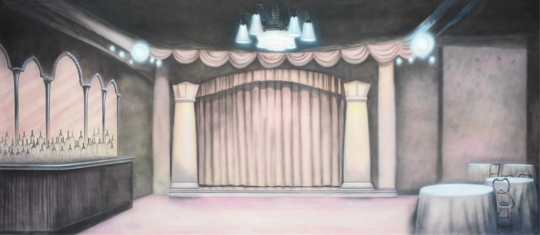 Speakeasy backdrop used in productions of Guys and Dolls