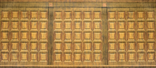 Wood Panel Interior backdrop used in the courtroom for the show Legally Blond