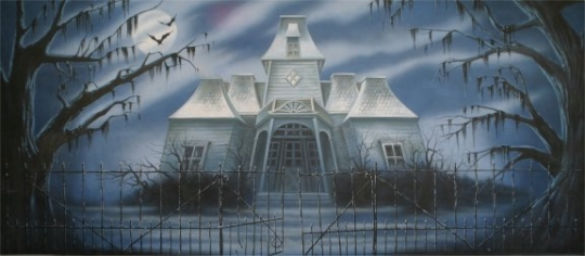 Haunted House Backdrop is great for productions of the Addams Family