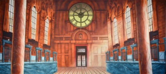 Bank Interior backdrop used in productions of Harry Potter and Mary Poppins