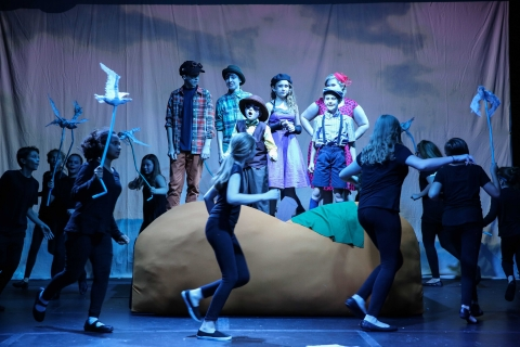 James and the Giant Peach Puppets