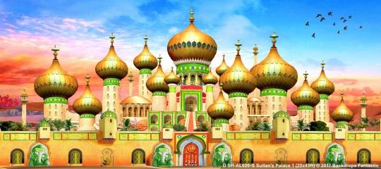 Sultan's Palace SH-AL020-S 20x45 Aladdin Backdrop Rental