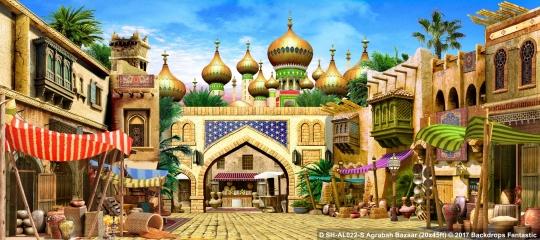 Agrabah Bazaar SH-AL022-S 20x45 Aladdin Backdrop Rental