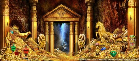 Cave of Wonders 2 SH-AL043-S 20x45 Aladdin Backdrop
