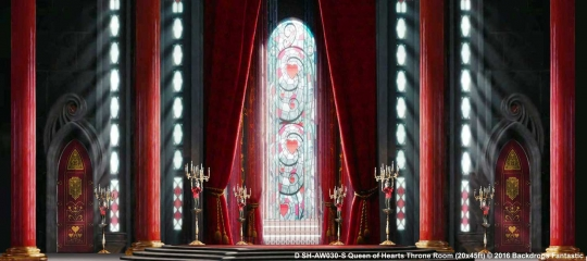 Queen of Hearts Throne Room Alice in Wonderland Backdrop