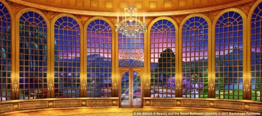 Beauty and the Beast Ballroom SH-BB020-S 20x45 Backdrop Rental