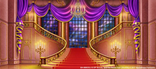 beauty and the beast backdrops for rent music theatre international