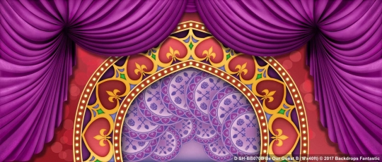 Be Our Guest B SH-BB0070B 17x40 Beauty and the Beast Backdrop Rental
