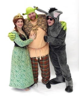Shrek the musical fiona shrek and donkey costumes