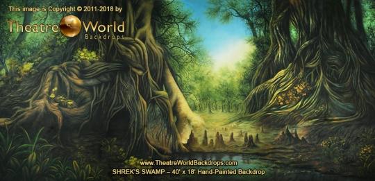 Shrek's Swamp Scenic Backdrop