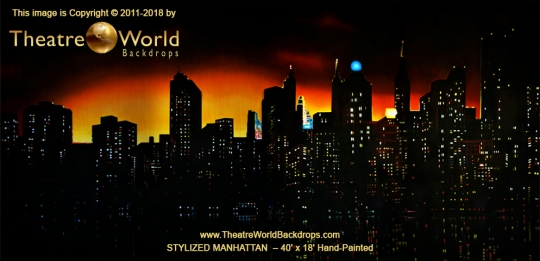 Stylized Manhattan Scenic Backdrop